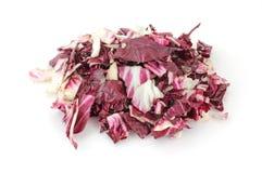 Radicchio cut and shredded Stock Photography