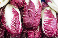 Radicchio on display at the market Stock Photography