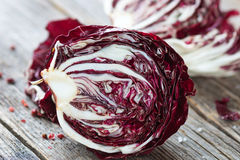 Radicchio. Fresh Radicchio salad on wooden background Stock Photo