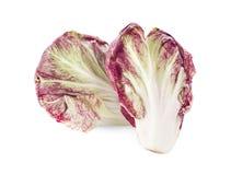 Radicchio, insalata rossa isolata su fondo bianco Immagini Stock