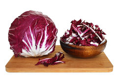 Radicchio on kitchen board. Radicchio on wooden kitchen board Stock Photography
