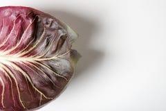 Radicchio Leaf on White Stock Photo