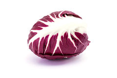 Radicchio purple. Radicchio, purple salad on white background Stock Images