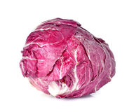 Radicchio, red salad. Isolated on white Royalty Free Stock Photos