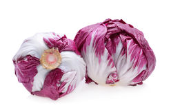 Radicchio, red salad. Isolated on white Royalty Free Stock Images