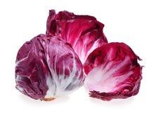 Radicchio, red salad. Isolated on white Stock Photography