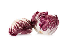 Radicchio, red salad isolated on white Royalty Free Stock Images