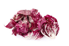 Radicchio, red salad isolated on white Stock Photography