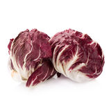 Radicchio, red salad isolated on white Royalty Free Stock Photos