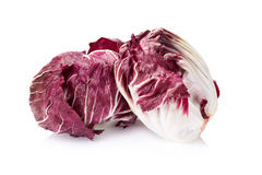 Radicchio, red salad isolated on white.  Royalty Free Stock Photography