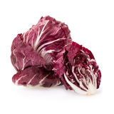 Radicchio, red salad isolated on white.  Royalty Free Stock Images