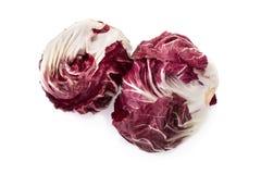 Radicchio, red salad isolated on white.  Royalty Free Stock Photos