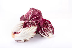 Radicchio, red salad isolated on white Stock Photos
