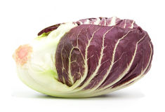 Radicchio red salad isolated. On white Stock Photos