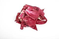 Radicchio, red salad isolated on white background.  Royalty Free Stock Image