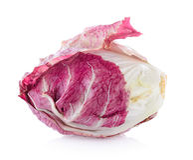 Radicchio, red salad isolated. On white background Stock Photo