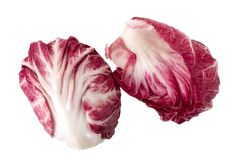 Radicchio, red salad isolated on white background.  Royalty Free Stock Photography