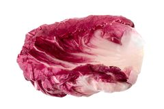 Radicchio, red salad isolated on white background.  Royalty Free Stock Images