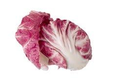 Radicchio, red salad isolated on white background.  Stock Photos