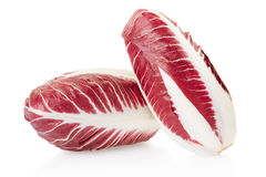 Radicchio, red salad. Isolated on white, clipping path included Royalty Free Stock Photos