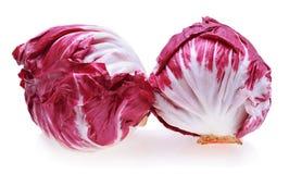 Radicchio, red salad. On white Stock Images