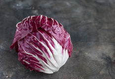 Radicchio red salad on wooden background. Horisontal Royalty Free Stock Photos