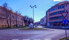 Radiceva街道在Pozega 免版税库存照片