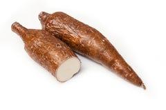 Radici della manioca o della manioca Fotografie Stock Libere da Diritti