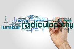 Radiculopathy word cloud Stock Image
