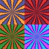 Radiell abstrakt bakgrund Royaltyfri Fotografi
