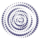 Radiell geometrisk motivprickmodell vektor illustrationer
