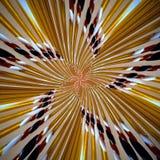 Radiell modell för spiralabstrakt begreppstjärna Arkivbilder