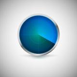 Radiell skärm av blåttfärg Fotografering för Bildbyråer