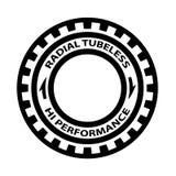 Radiell slanglös för däcksymbol för hög kapacitet vektor Royaltyfria Foton