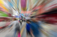 Radiell suddighet för hastighet av folkabstrakt begreppbakgrund Royaltyfria Foton
