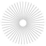 Radiella linjer geometrisk beståndsdel för abstrakt begrepp Eker som utstrålar remsan royaltyfri illustrationer