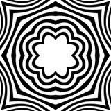 Radiellt geometriskt diagram med distorsionseffekt Ojämna radier stock illustrationer