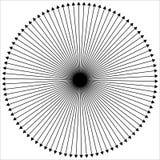Radiellt - utstråla fodrar yttre från mittpunkt royaltyfri illustrationer