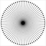 Radiellt - utstråla fodrar yttre från mittpunkt vektor illustrationer