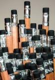 Radiergummi am Ende der Bleistiftgruppe des Bleistifts Stockbilder