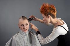 Radikaler Haarschnitt Stockfoto