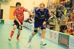 Radim Polasek in floorball Stock Photo