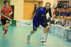 Radim Polasek - in floorball Stock Photo