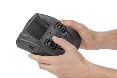 Radio à télécommande dans des mains Image libre de droits