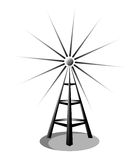 Radio. Illustration of a radio antenna isolated on white background