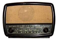 Radio. A nostalgic piece of amusement stock photos