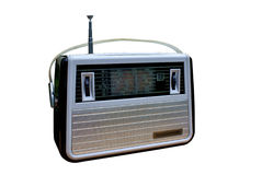 Radio. Luggable retro-radio give you clear reminiscence and loved musical melody Royalty Free Stock Image