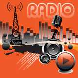 Radio stock illustration
