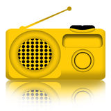 Radio. Receiver over white background Stock Photography