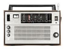 Radio. Retro radio isolated on white  background Stock Photos